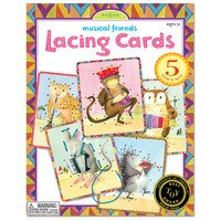 Lacing Cards - Musical Friends