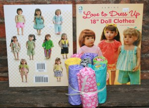 "Love To Dress 18"" Dolls/Fabric Bundle"