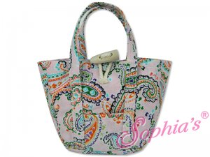 "Pink Paisley Tote Bag for 18"" Dolls"