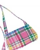 Doll Pink and Green Plaid Purse