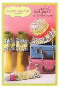 Rainy Hats and Boot Liners and umbrella cover Pattern