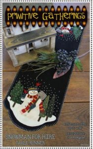 Snowman for Hire Table Runner