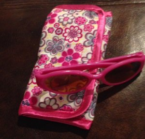 Doll Sunglasses with Case - Pink