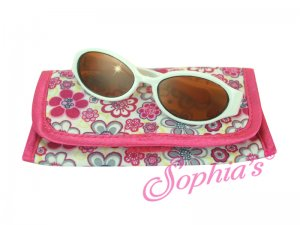 Doll Sunglasses with Case - White