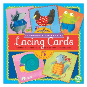 Lacing Cards - Friendly Animals